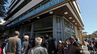 Cyprus bank opening, March 2013