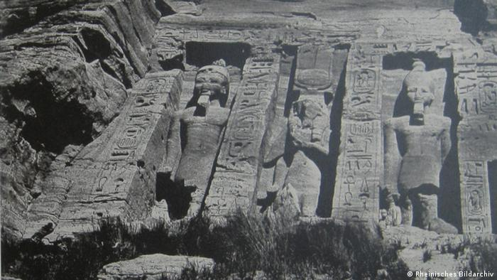 A photograph of Abu Simbel taken by Frenchman Maurice Du Camp in 1850.