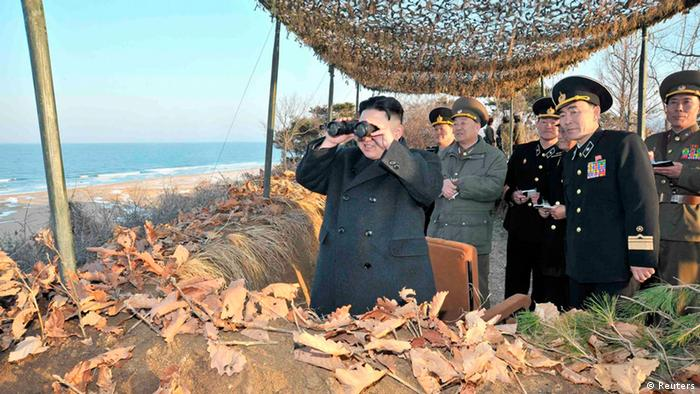 North Korean leader Kim Jong-Un , March 25, 2013, in this picture released by the North's KCNA news agency in Pyongyang March 26, 2013. REUTERS/KCNA