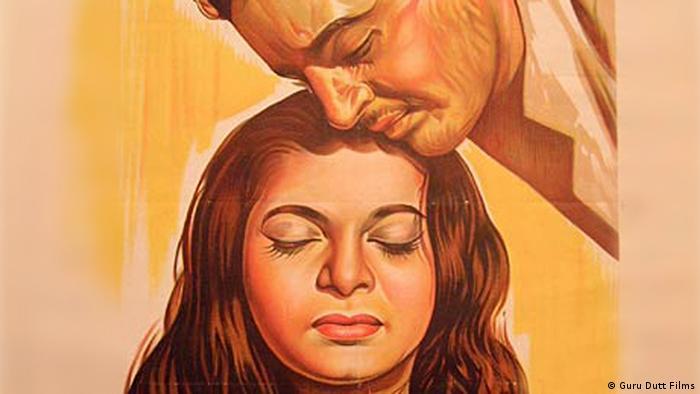 Handgemalte Filmposter 'Pyaasa' 1957 VERWENDUNG ALS BILDZITAT