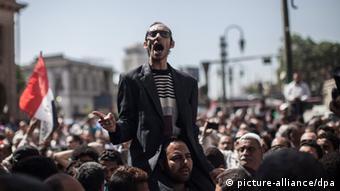 Egyptian protesters dpa - Bildfunk+++