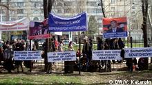 Proteste der kirgisischen Opposition in Bischkek