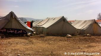 Auf dem Bild: Zelte im Aufnahmezentrum in Mardsch im Libanon Bekaa für Flüchtlinge aus Syrien. Copyright: D.Hodali/M.Naggar / DW Angeliefert von Diana Hodali am 31.3.2013