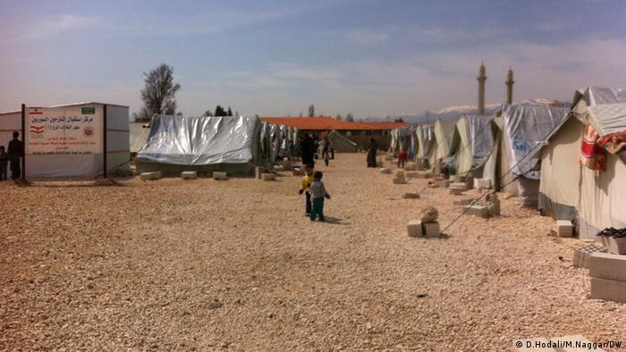 Auf dem Bild: Im Aufnahmezentrum in Mardsch im Libanon Bekaa für Flüchtlinge aus Syrien. Copyright: D.Hodali/M.Naggar / DW Angeliefert von Diana Hodali am 31.3.2013