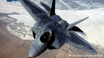 Photo: A F-22 jet fighter