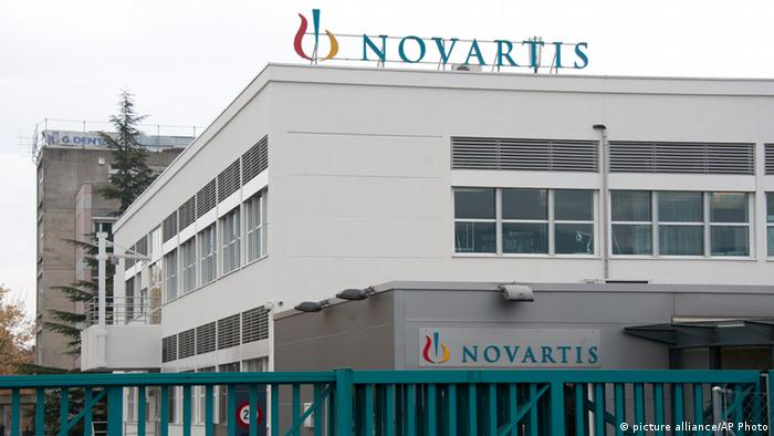FILE - The Oct. 25, 2011 file photo shows a Novartis production site in Nyon, Switzerland. On Wednesday, Jan. 23, 2013 Swiss drug maker Novartis AG reported a jump in fourth-quarter net profit to us$ 2.08 billion, citing the lack of a US$ 900-million one-time charge it took in the same period the previous year. Net profit during the final quarter of last year rose 72 percent from the US$ 1.21 billion net profit posted in the final three months of 2011, when the Basel-based company took a hit from ending its clinical study into wider uses of the hypertension drug Tekturna. (AP Photo/Keystone, Dominic Favre)