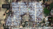 Human Rights Watch Auswertung Satellitenbild Zerstörung in Myanmar