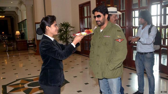 Indien Lucknow Filmdreh Arshad Warsi (DW)