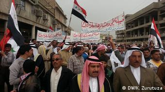 Prominent political and religious leaders have also joined the protests, März 2013 (Mosul); Copyright: DW/K. Zurutuza