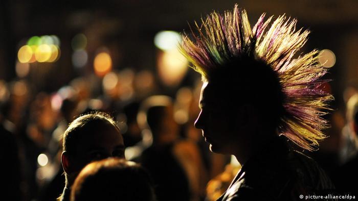 Silhueta de um punk
