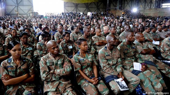 Südafrika Trauerfeier für getötete Soldaten in der Zentralafrikanischen Republik