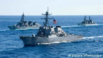 US-Kriegsschiffe im Pazifik (Foto: DPA)