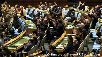Delegates to the United Nations General Assembly (Photo TIMOTHY A. CLARY/AFP/Getty Images)