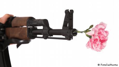 Gewehrlauf Blumen
