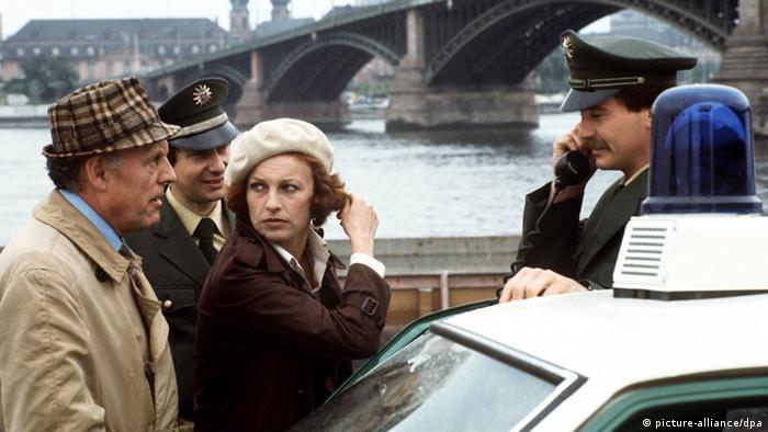 Nicole Heesters in einer Szene als Tatort-Kommissarin Marianne Buchmüller