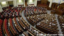 Ukraine Parlament Verlegung der Sitzung nach erneuter Blockade
