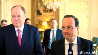 Пер Штайнбрюк и Франсуа Олланд в Париже