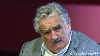 Uruguayan President Jose Mujica takes part in the Unions and Progressist Parties International Forum organized by the Friedrich Ebert Foundation, in Montevideo on April 4, 2013. AFP PHOTO / Daniel CASELLI (Photo credit should read DANIEL CASELLI/AFP/Getty Images)