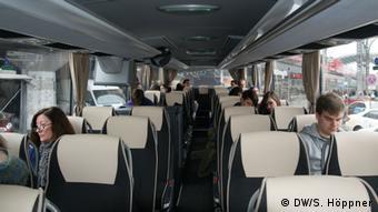 Ein Blick in den Fernbus des Unternehmen Flixbus (Foto: DW/Stephanie Höppner)