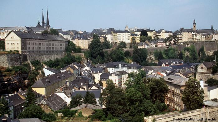 View of downtown Luxembourg