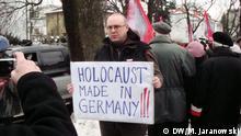 Protest in Warschau gegen die ZDF Fernsehsendung Unsere Mütter, unsere Väter
