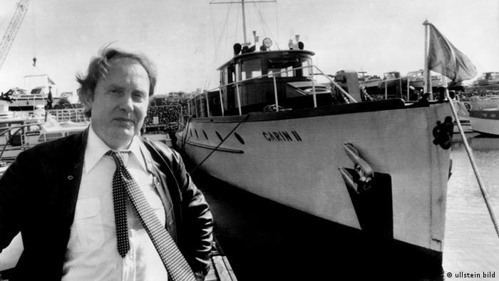 Black and white photo of Heidemann and Göring's yacht Photo: ullstein bild