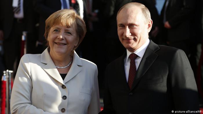 Меркель и Путин в Ганновере