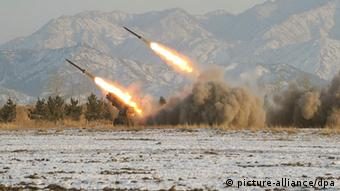 Rocket launches in North Korea (Archivfoto vom 05.01.2009). (Photo: KCNA +++(c) dpa - Bildfunk+++ )