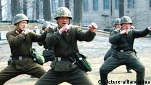Nordkorea Soldaten Propagandabild