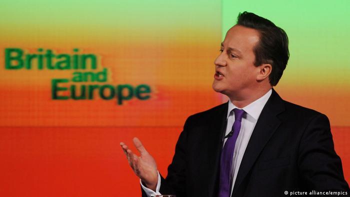 Symbolbild David Cameron Europa EU