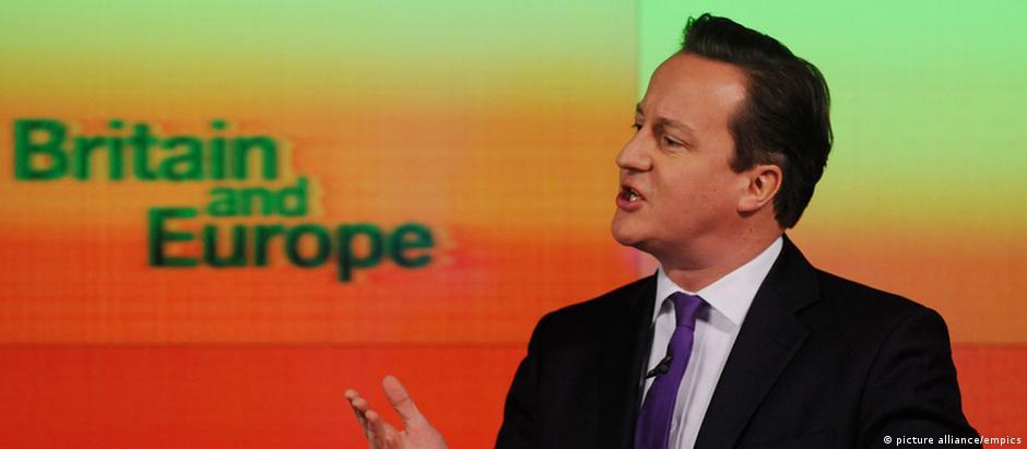 Premiê britânico, David Cameron