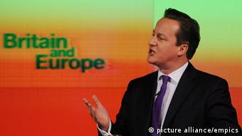 Prime Minister David Cameron makes a speech on Europe (c) Stefan Rousseau/PA Wire