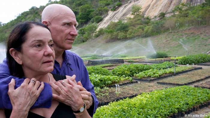 Sebastiao Salgado and his wife Lélia Wanick Salgado pictured at the site of his Instituto Terra, his conservation project in Minas Gerais, Brasil. (Ricardo Beliel)