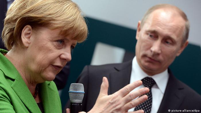 Bundeskanzlerin Angela Merkel und Russlands Präsident Wladimir Putin (Foto: picture-alliance/dpa)