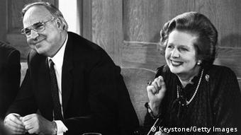 Helmut Kohl y Margaret Thatcher, en 1982.