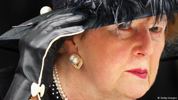 La política y baronesa Margaret Thatcher en 2008.