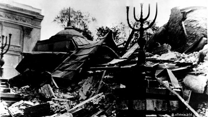 Warschau 1943 Ghetto zerstörte Synagoge - 70 Jahre Aufstand im Warschauer Ghetto