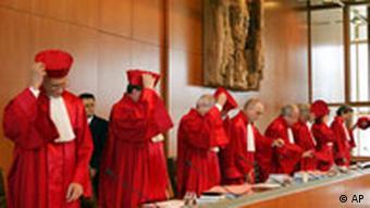 Bundesverfassungsgericht Die Richter des Zweiten Senats des Bundesverfassungerichts