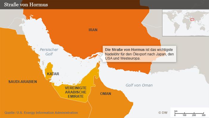 Infografik Straße von Hormus Deutsch