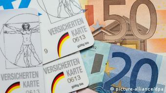 Symbolbild Krankenkassen Geld Beitragsschulden