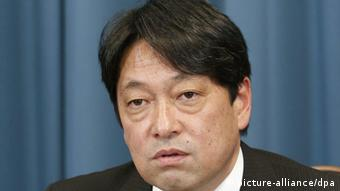 ©Kyodo/MAXPPP - 28/12/2012 ; TOKYO, Japan - New Defense Minister Itsunori Onodera is interviewed by Japanese media organizations in Tokyo on Dec. 28, 2012. (Kyodo)