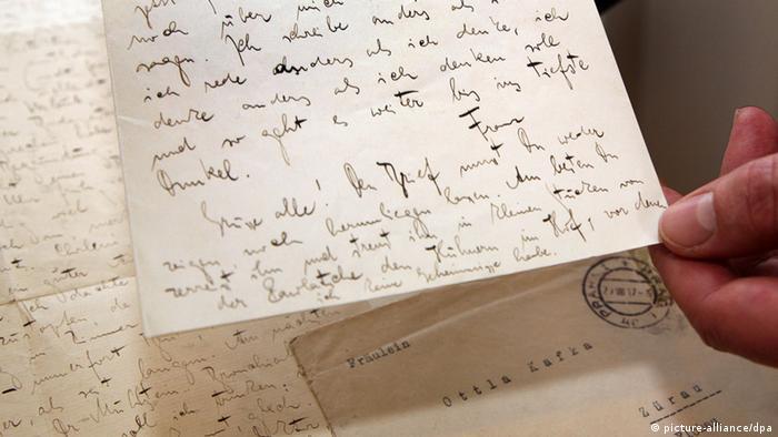 Письмо Франца Кафки