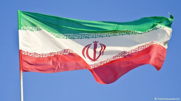 Iran flag flying