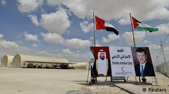 Eingang eines Lagers für syrische Flüchtlinge in Jordanien (Foto: Reuters)
