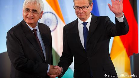 Guido Westerwelle and Salman Khurshid