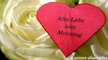 Ein Herz mit der Aufschrift Alles Liebe zum Muttertag