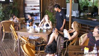 Tourists at a beach bar in Goa (Photo: Murali Krishnan, March 28-31 2013)
