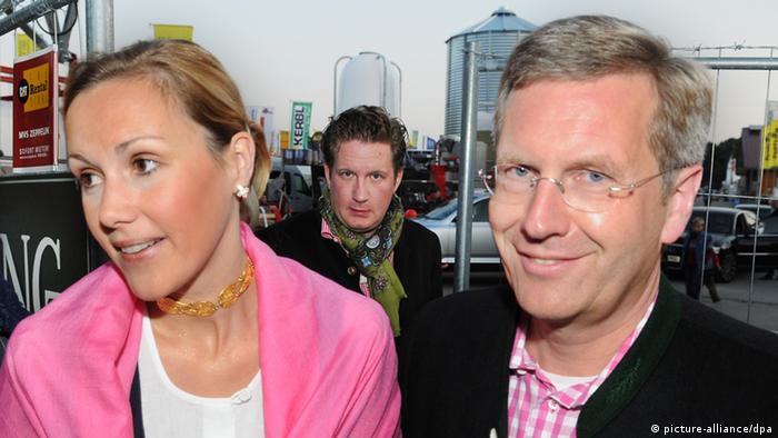 Christian und Bettina Wulff und Filmunternehmer David Groenewold Archiv 2008
