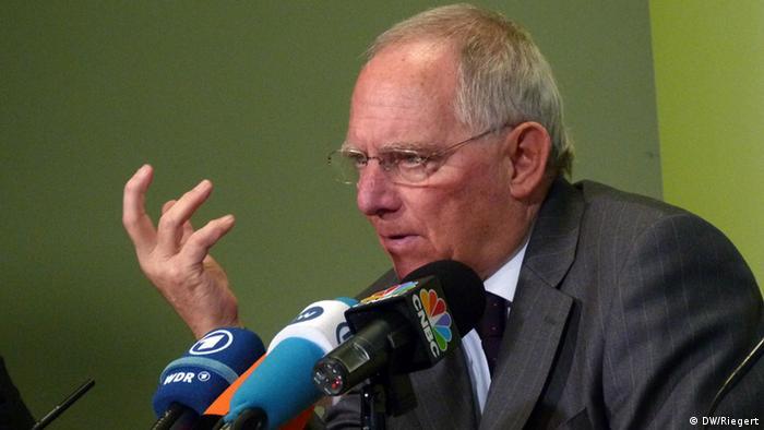 Bundesfinanzminister Wolfgang Schäuble (Foto: DW)