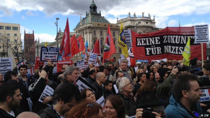 Anti-NSU protesters gathered in Munich (c) DW / Senada Sokollu